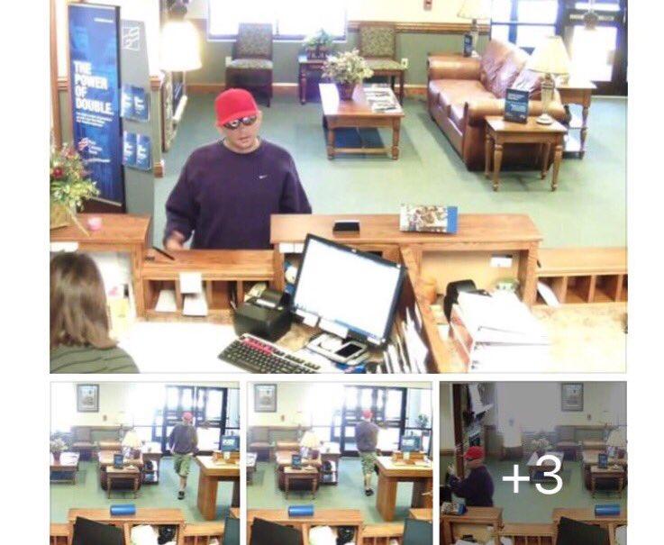 Caldwell- man accused of robbing bank in Granite Falls now in police custody.