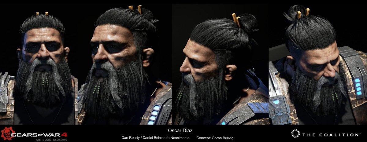 dan roarty on twitter oscars hair from gears of war 4 using shave