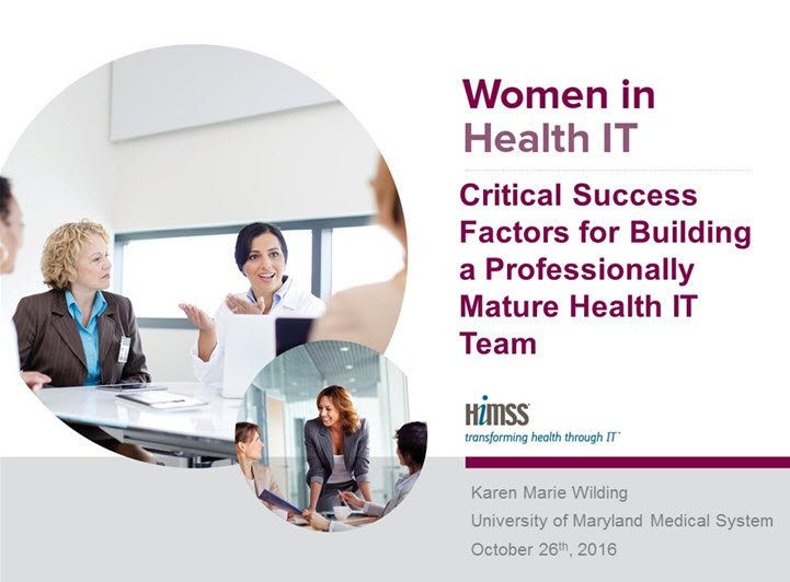 Thumbnail for Critical Success Factors for Building a Professionally Mature Health IT Team