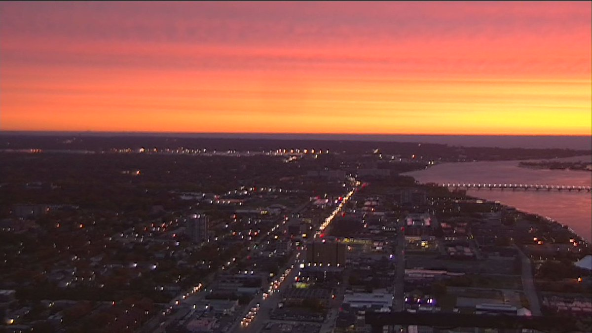 The sunrise doesn't even look real this morning. So gorgeous. Check your full forecast here