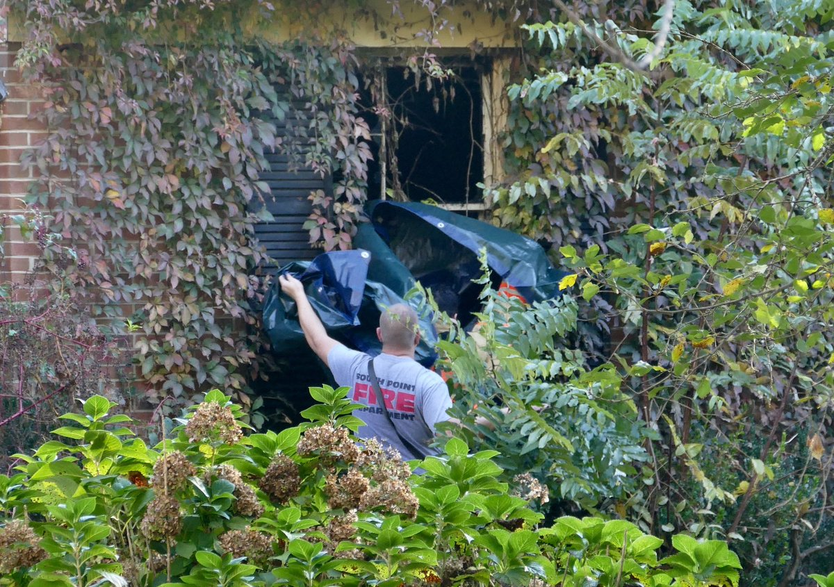 An elderly woman died in an overnight house fire in the 1800 block of South Point Road in Belmont. @theobserver
