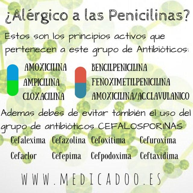 que puede tomar una persona alergica a la penicilina
