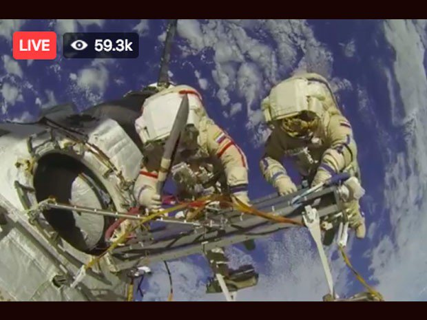 Falso Video Live Streaming NASA della Terra dallo Spazio su Facebook.