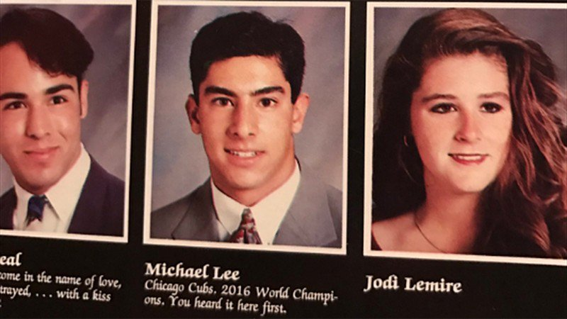 Man predicts 2016 Cubs World Series win in 1993 yearbook quote
