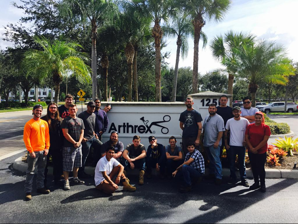 Thank you to Arthrex for hosting our Welding Technology Department on a tour today. #CCPSsuccess #DiscoverArthrex