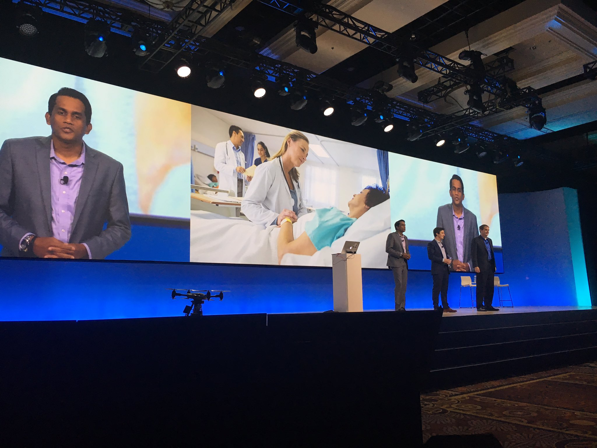 .@TJUHospital, @Aerialtronics and @HoneywellBuild are on stage discussing how #WatsonIoT revolutionizes their businesses #ibmwow https://t.co/i0Ox2ZvbLM