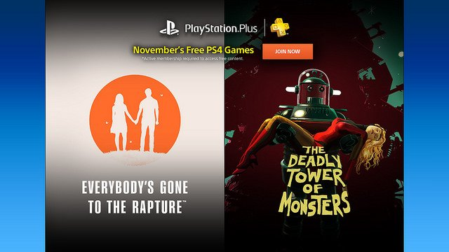 PS Plus free games November 2016