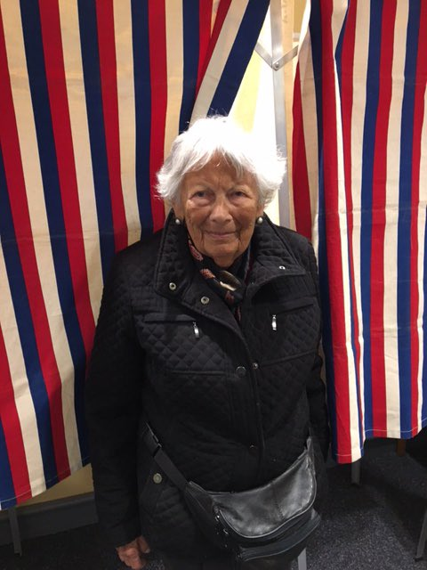 My grandmother, who is 101 and was born before women's suffrage, just cast her vote. https://t.co/ts3rP1IovQ