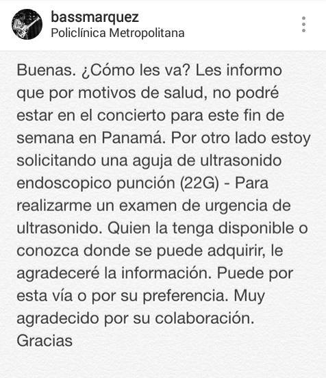 #ServicioPublico para nuestro bajista Gustavo Márquez https://t.co/jN0oiP0mGX
