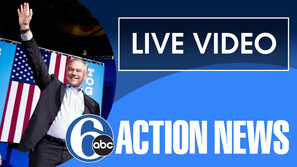 NOW: Tim Kaine campaigns in Bucks Co. 6abc -