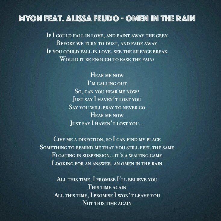 Lyric if you go away lyrics : Alissa Feudo on Twitter: