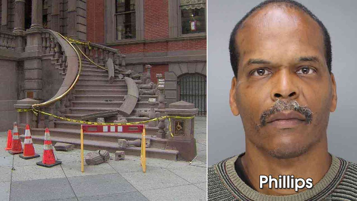Warrant issued for suspect in theft, damage to Union League staircase