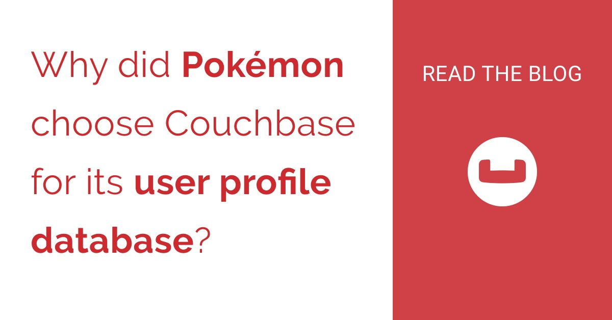 Learn how Pokémon scaled its profile service to millions of users with #Couchbase #NoSQL https://t.co/d3txvEWnqN https://t.co/ISHN2Jj0GZ