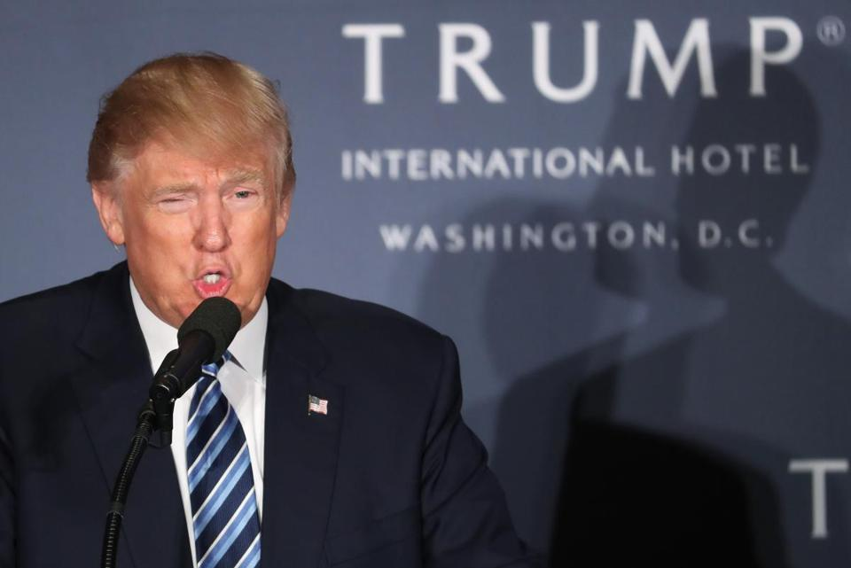 Donald Trump promotes new luxury hotel in final stretch of presidential race