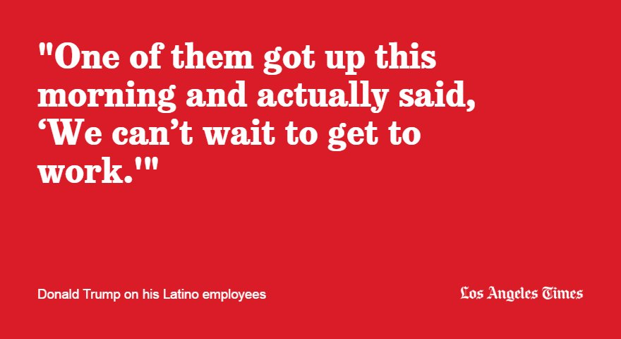 Trump points to his employees when asked why Latinos should feel safe voting for him