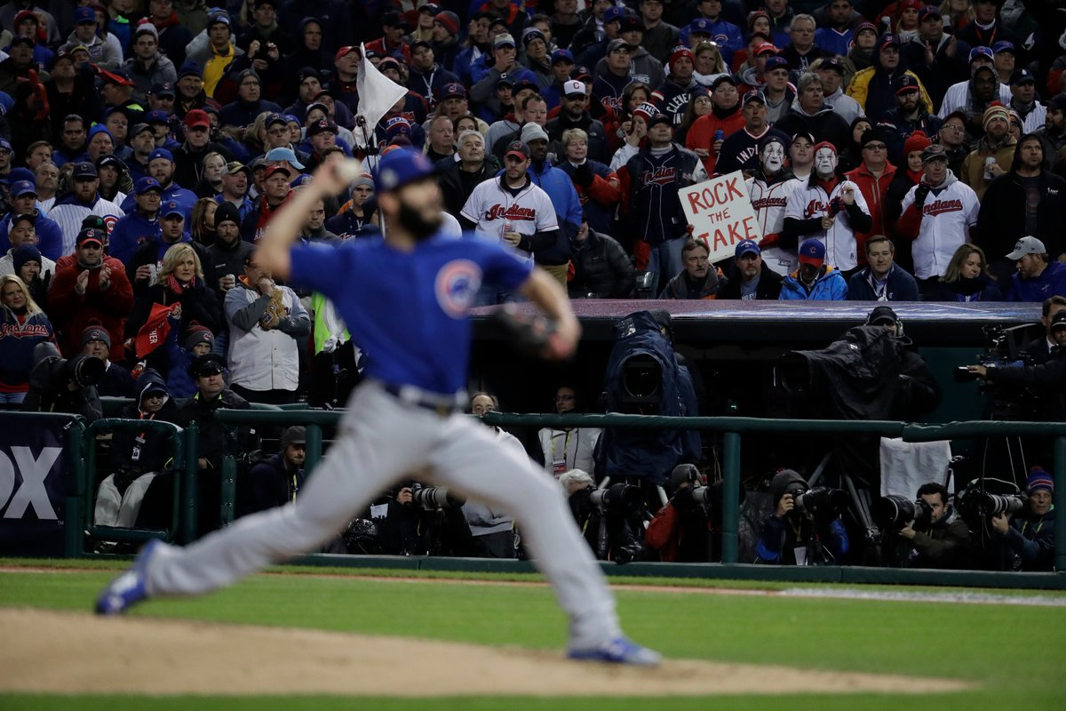 Cubs hold 1-0 lead in middle of the second inning