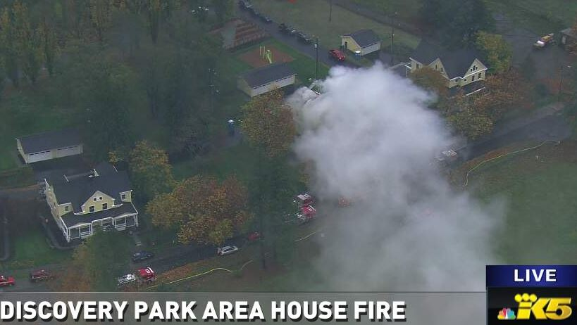 SkyKING over fire in Seattle LIVESTREAM