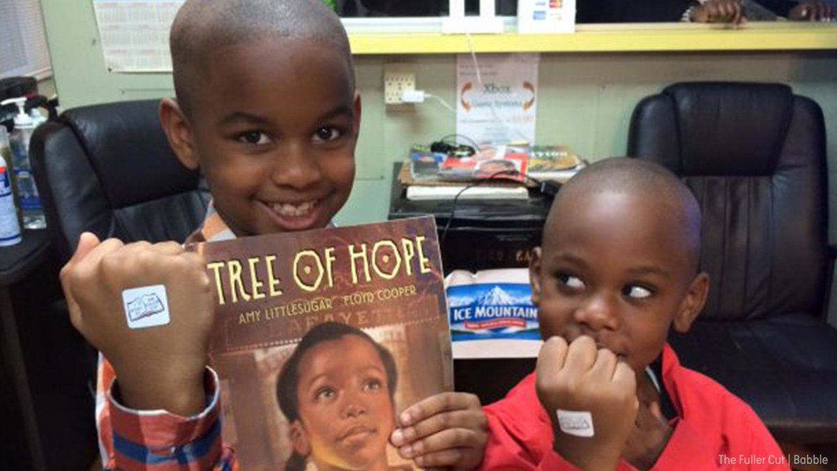 Barbershop offers discounts to kids who read aloud while getting their hair cut