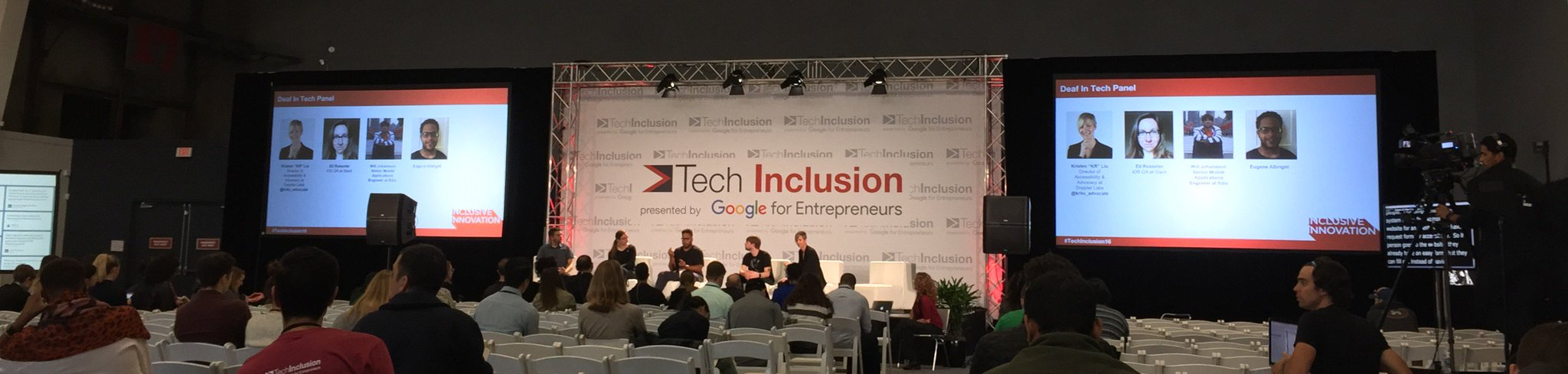 powerful #a11y panel on Deaf In Tech at #TechInclusion16 https://t.co/rXwMfYc0Xf