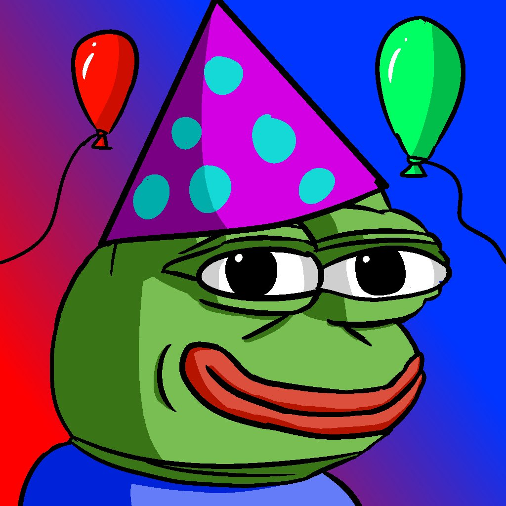 Pepe the frog birthday card