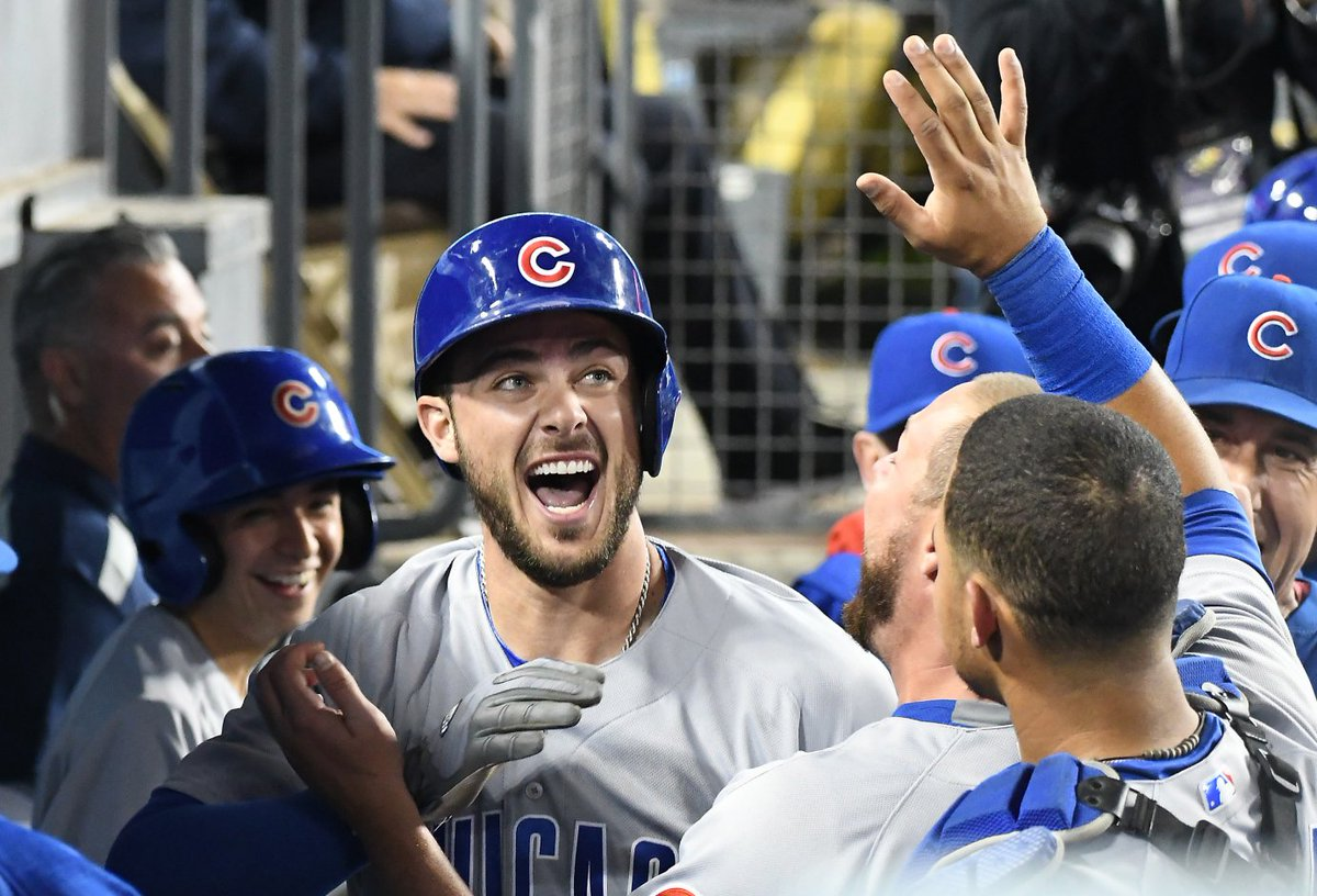 Congrats Kris Bryant! The @Cubs Bryant has been named this year's winner of the Hank Aaron Award.