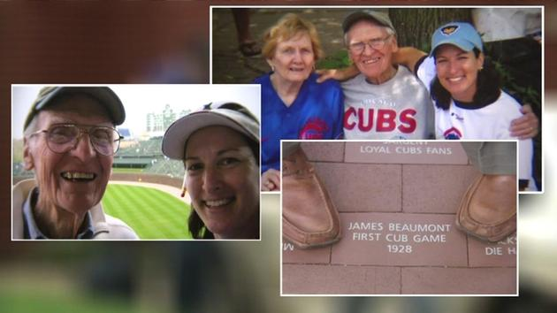 Woman surprises 95yo dad with road trip to see the Cubs in the World Series!