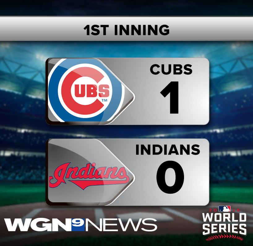 It's the WorldSeries and the Cubs are on the board!
