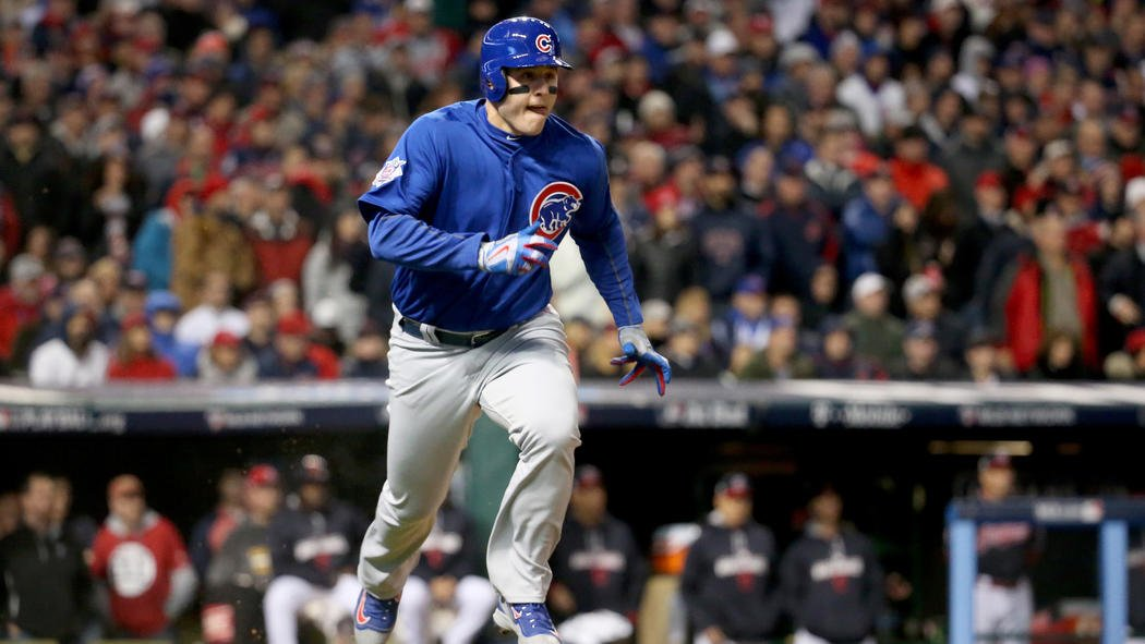 Anthony Rizzo gives Cubs an early 1-0 lead over Indians with RBI double in the first inning