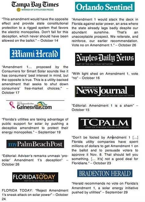 30+ major Florida papers tell voters: reject Amendment 1 #NoOn1 https://t.co/Iwmd3wz5IR https://t.co/iBclwg51wG