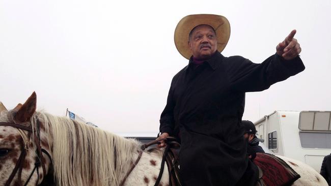 Even Rev. Jesse Jackson on horseback can't end pipeline showdown