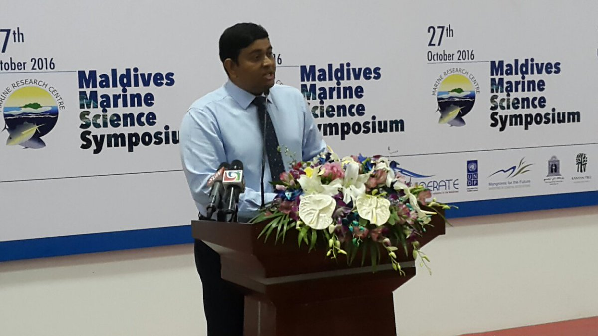 Hon. Minister of Fisheries & Agriculture inaugurates the first Maldives Marine Science Symposium #MMSS @FishAgri @mshaineepic.twitter.com/VCdxYR5fqo