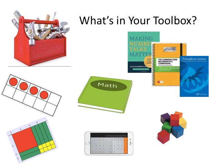 What's in your mathematical toolbox? @LindaGojak #NCTMregionals #presignite https://t.co/aJyKoZdWyH