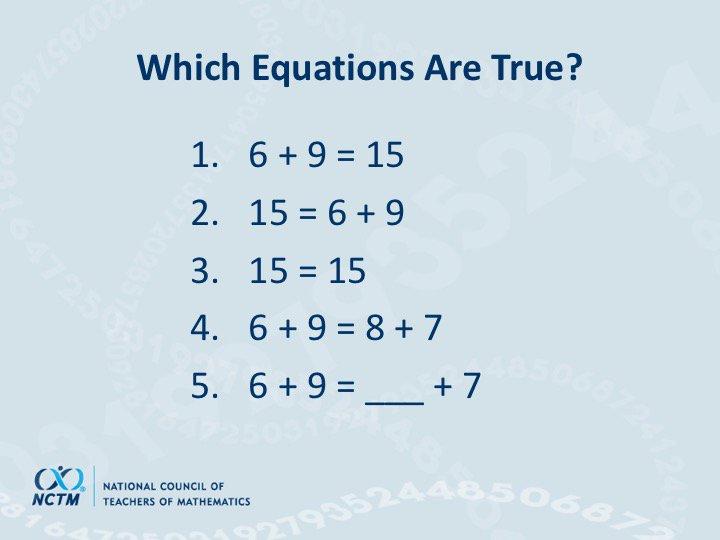 Which equations are true? via @dbriars #NCTMregionals #PresIgnite https://t.co/CBh1hc76vq