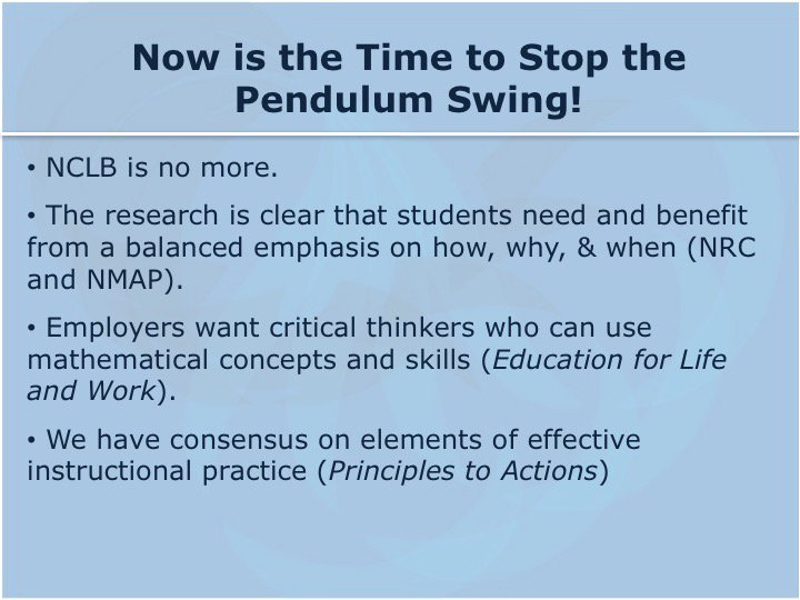 So why is NOW the time to stop the pendulum swing? @mlarson_math is ready! #NCTMregionals #PresIgnite https://t.co/lUPTawJ5iL