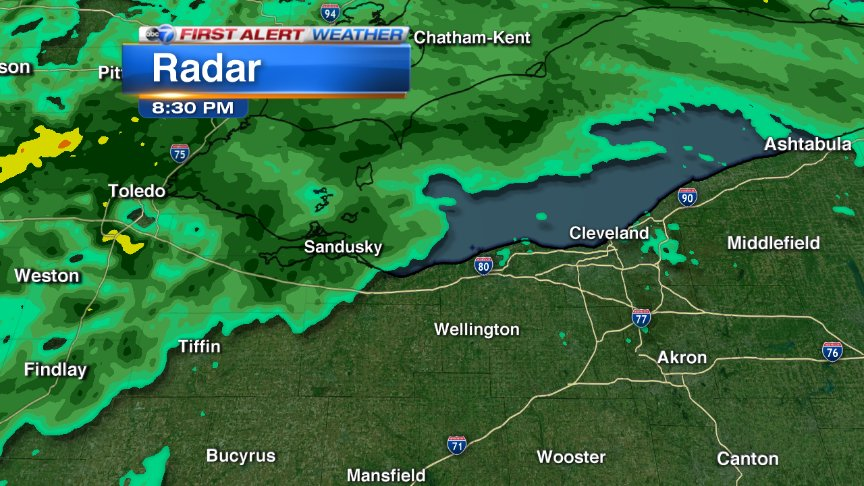 Let's keep this game moving. Rain to the west will move in to Cleveland between 9;30-10 PM. Cubs