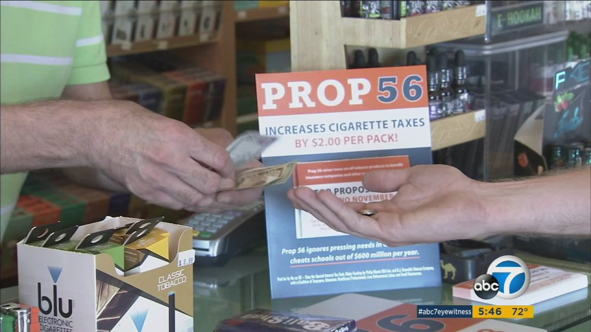 Latino community leaders voice support of Prop 56 in downtown Los Angeles