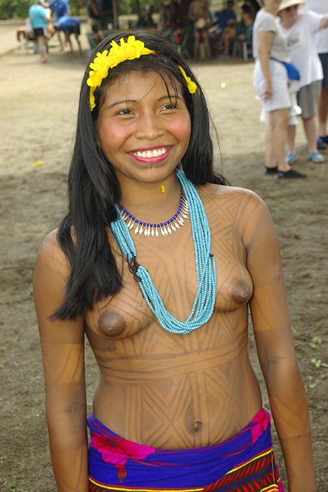 Native indian girl topless