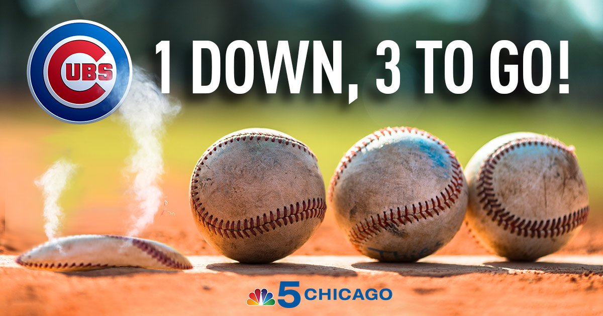 Hey Chicago, what do you say? The Cubs tied up the WorldSeries today! FlyTheW