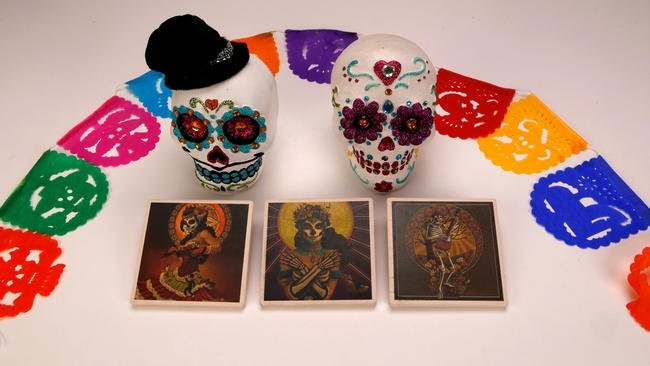 Day of the Dead decor doesn't rival Halloween — yet