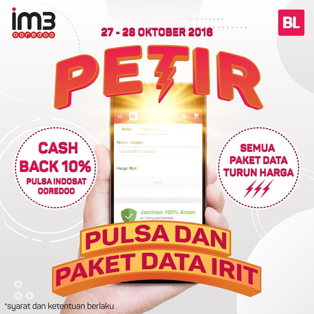 Bukalapak On Twitter Beli Pulsa Indosat Ooredoo Di Dapat Im3 Rp0 1120 Pm 26 Oct 2016