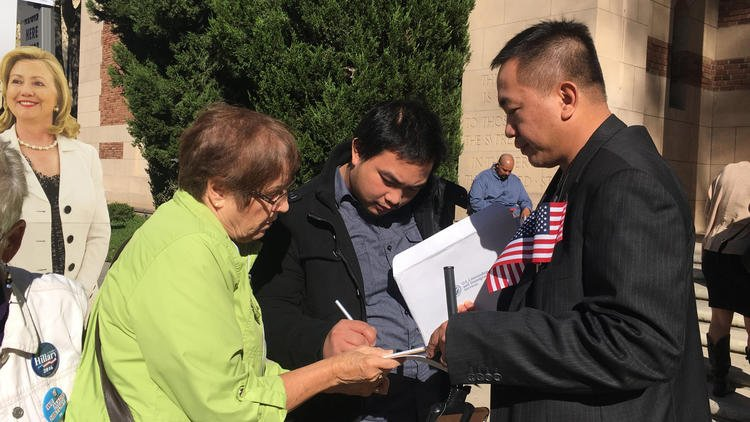 California's voter registration deadline has passed, but not for new U.S. citizens