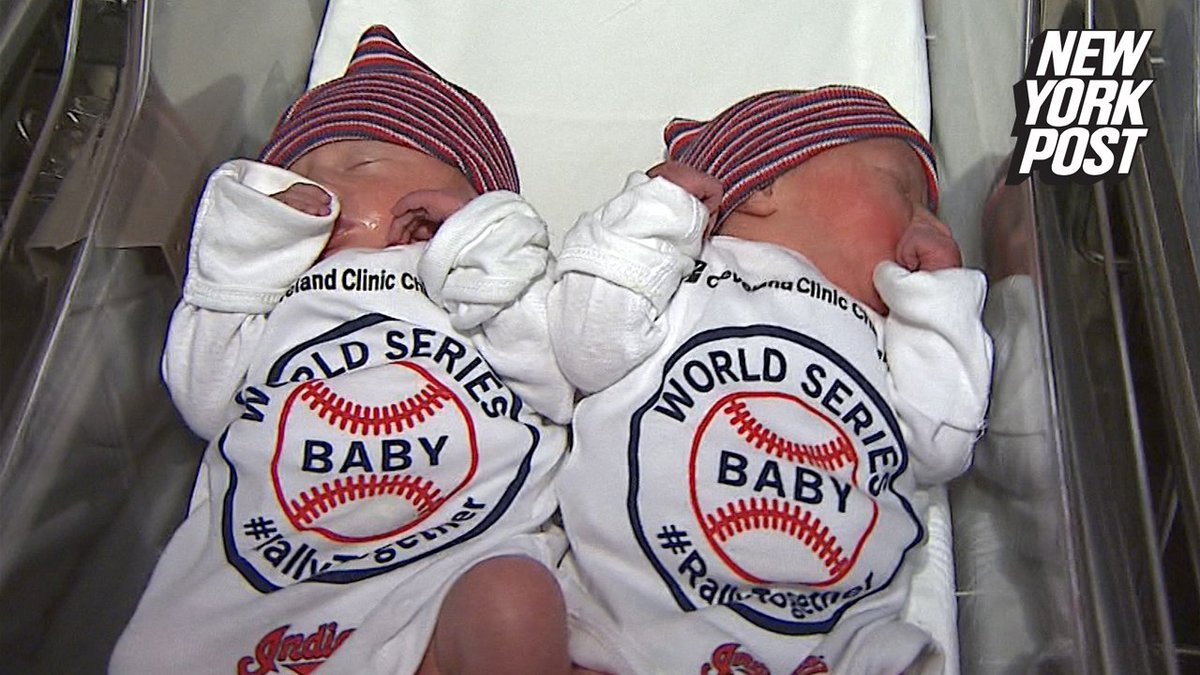 These newborns are only hours old and rooting for the Cleveland