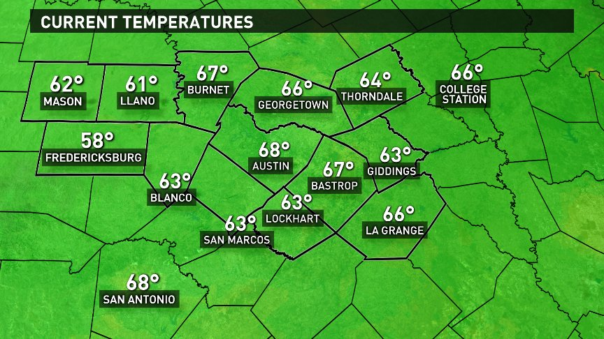 A warm start to the day with lots of sun expected this afternoon. Full forecast beginning at 4:30am on @KVUE.