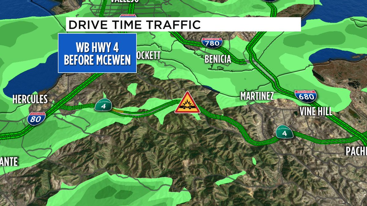 Rollover crash WB 4 just before McEwen Rd, CHP responding, driver out of vehicle.