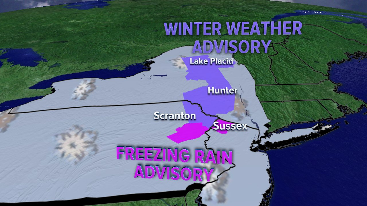 Map winter weather and freezing rain advisories in place for parts of