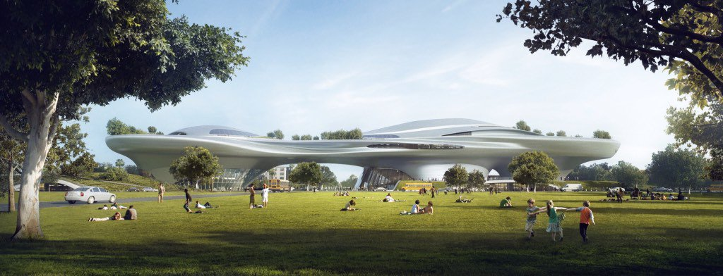 George Lucas reveals museum designs for SF and LA, the two cities now vying for his museum.