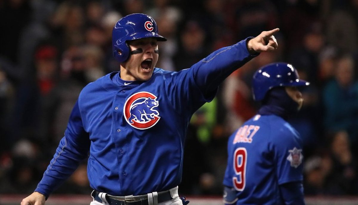 Cubs beat Indians 5-1, set the stage for a tied World Series at Wrigley Field on Friday