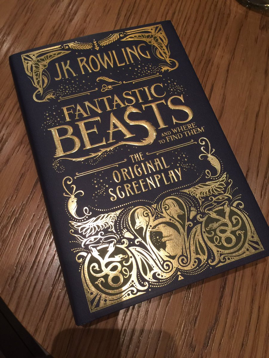 Advance copies never, ever lose their thrill! #FantasticBeasts