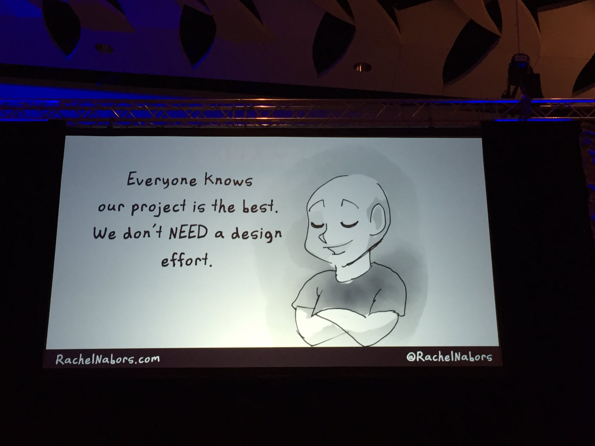 Yes, your #opensource project needs Design! Fun hand-drawn slides by @rachelnabors #ATO2016 https://t.co/hddlZZyZh7