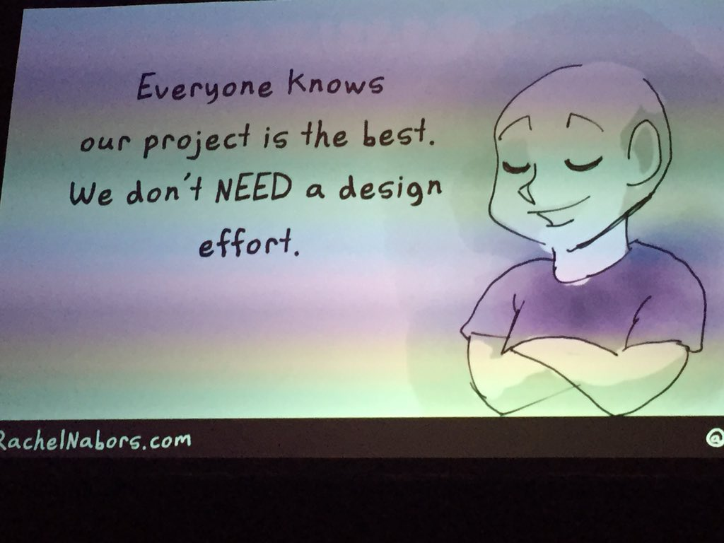 #ATO2016 - we do not need design  - this is a meritocracy- bad idea @rachelnabors https://t.co/iqjjA3TTaR